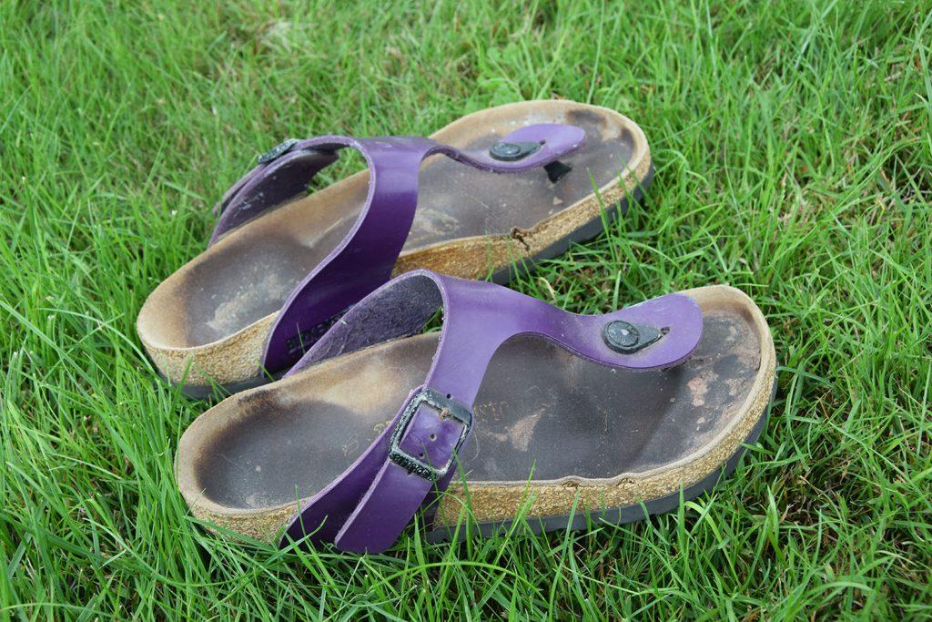nieuwe Birkenstock slippers