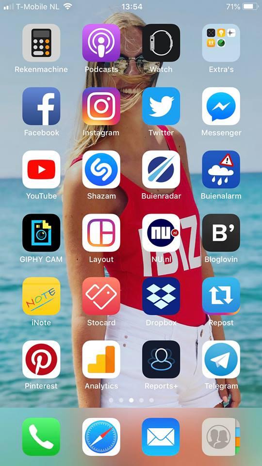 favoriete apps op mijn telefoon
