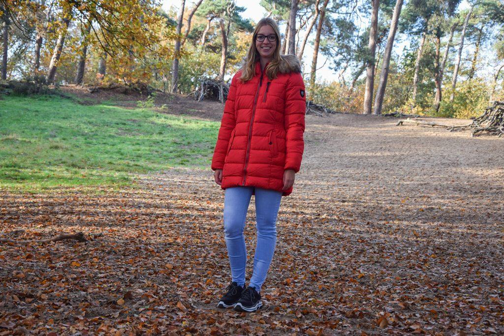 Mijn nieuwe rode winterjas