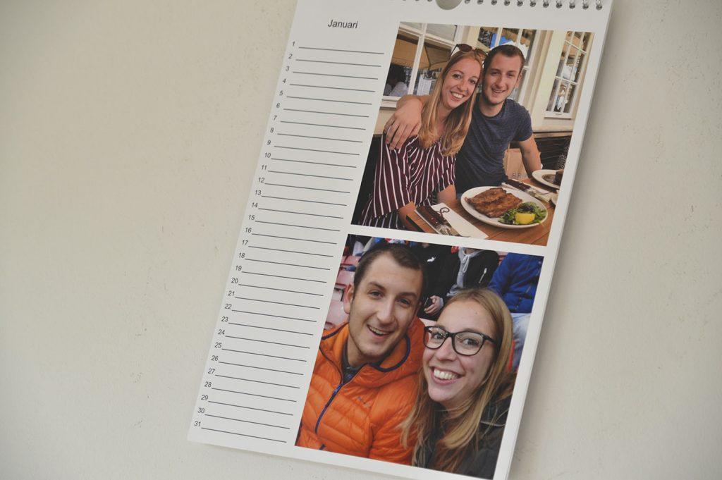 eigen gemaakte fotokalender