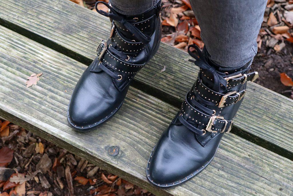 nieuwe winterjas en schoenen