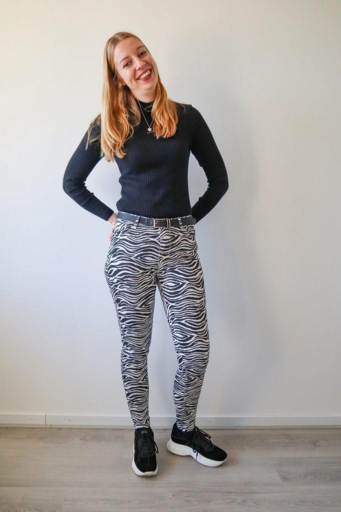 zebraprint broek