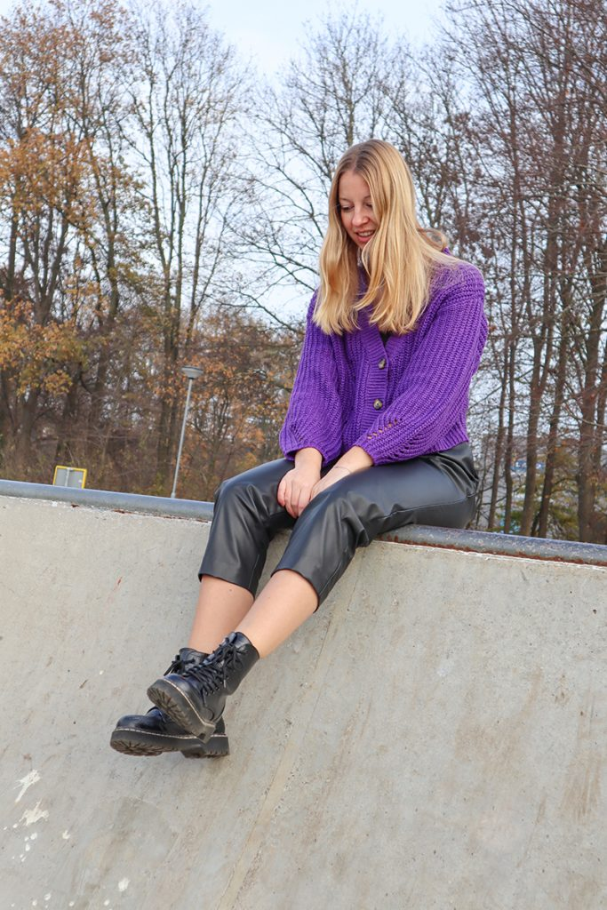 leren mom jeans outfit