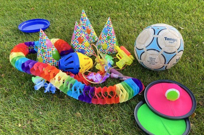 kinderfeestje in eigen tuin vieren